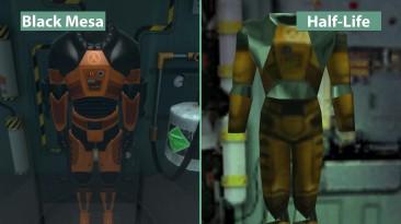 "Half-Life ""детальное сравнение на PC - Half-Life vs. Black Mesa"""