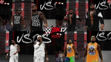 "WWE 2K17 ""The Usos + 4 Наряда (Лицевая анимация) WWE 2K19 Порт Мод"""