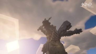 """В Minecraft построен памятник """"Родина-мать зовет!"""" на сервере """"Виртуальная Россия"""""""