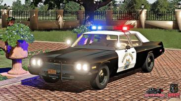 "Farming Simulator 19 ""Dodge Monaco Police 1974 v1.0 (1.7.x)"""