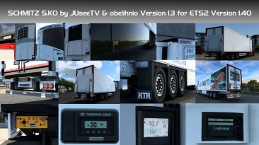 """Euro Truck Simulator 2 """"Прицеп Schmitz SK.O Edit [Obelihnio] в собственность v1.3 (1.40.x)"""""""