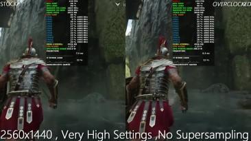 AMD Radeon VII LC Stock против Overclocked 2GHz 2560x1440 разрешения | i7 8700K 5GHz