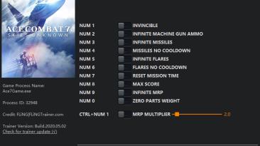 Ace Combat 7: Skies Unknown: Трейнер/Trainer (+11) [v1.0 - UPD: 02.04.2020] {FLiNG}