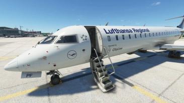 Новое видео надстройки CRJ для Microsoft Flight Simulator показывающее детали кабины пилота
