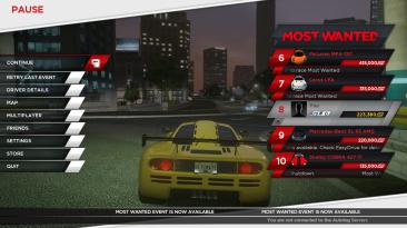 "Need for Speed: Most Wanted ""Цветные иконки боссов (главное меню)"""