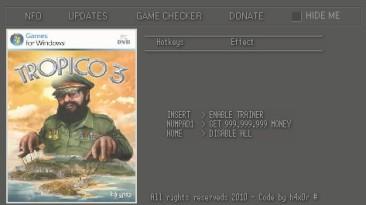 Tropico 3: Трейнер (Бесконечные деньги) [1.09] {h4x0r}