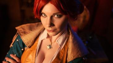 Косплей на Трисс Меригольд из The Witcher 3: Wild Hunt
