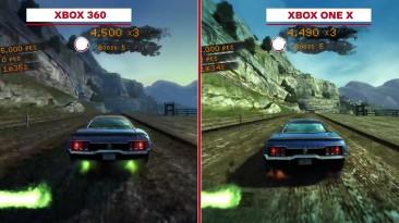 Burnout Paradise Remastered Сравнение графики: Xbox 360 vs. Xbox One X