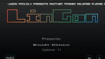 Binary Domain: Трейнер/Trainer (+11) [1.0.0.1/Update 2: Steam Version] {LinGon}