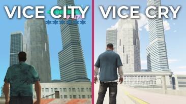 "Фанаты против ""Рок-звёзд"" - сравнение мода Vice Cry Remastered для Grand Theft Auto V с оригинальной GTA: Vice City"