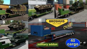 """Euro Truck Simulator 2 """"Военные грузы для низкорамника Broshuis (в собственность) v1.2.5"""""""