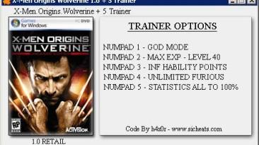 X-men Origins: Wolverine: Трейнер (+5) [1.0]