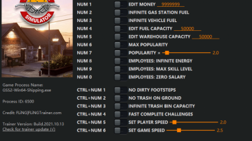 Gas Station Simulator: Трейнер/Trainer (+16) [1.0.1 - 1.0.1.38259] {FLiNG}