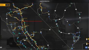 "American Truck Simulator ""MHAPro map ATS v1.2"""