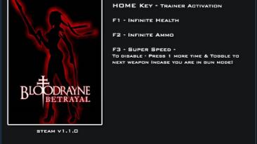 BloodRayne ~ Betrayal: Трейнер/Trainer (+3) [1.1.0] {LinGon}