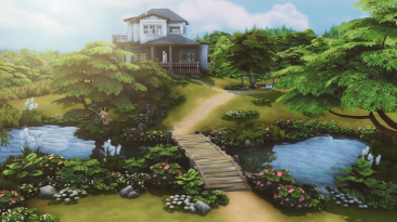 "The Sims 4 ""Жилой дом 50x50 - Japanese Countryside House"""