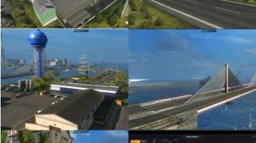 "ETS 2 ""Мост из Кале в Дувр и город на острове v6.4"""