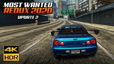 Выпущена новая версия Need for Speed Most Wanted Redux 2020, включает в себя новые опции гонки, обновлённую графику