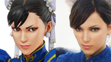 Искусственный интеллект заменяет лица персонажей Street Fighter V на человеческие версии