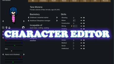 "RimWorld ""Character Editor"""