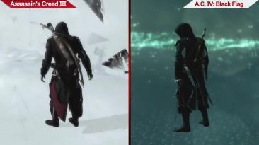 Сравнение | Assassin's Creed III (2012) vs. Assassin's Creed IV: Black Flag (2013) | на ультра настройках