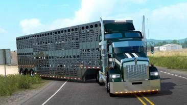 """American Truck Simulator """"Прицеп Merritt Livestock в собственность"""""""