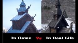 Assassin's Creed: Valhalla - сравнение игровых локаций с реальными