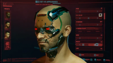 "Cyberpunk 2077 ""Расширенная настройка внешности Ви"""
