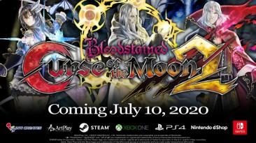 Новый трейлер двухмерного ретро-экшена Bloodstained: Curse of the Moon 2