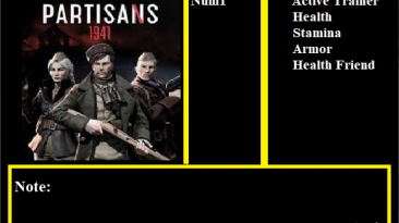 Partisans 1941: Трейнер/Trainer (+4) [Build.5617283 - UPD: 27.04.2021 / SKIDROW] {Abolfazl.k}
