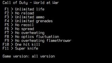 Call of Duty: World at War: Трейнер/Trainer (+11) [1.7.1263] {LIRW / GHL} - Updated: 04.05.2020
