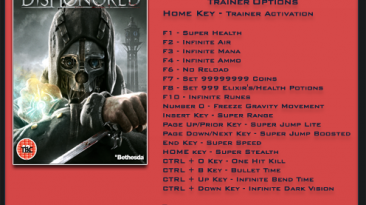 Dishonored ~ Brigmore Witches: Трейнер/Trainer (+20) [1.4 / Update 4] {LinGon}