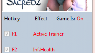 Sacred 2 ~ Ice and Blood: Трейнер/Trainer (+2) [2.65.2] {MrAntiFun}