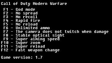 Call of Duty: Modern Warfare: Трейнер/Trainer (+12) [1.7] {LIRW / GHL}