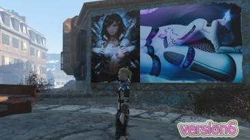 """Fallout 4 """"Эро-постеры и рекламные щиты (18+)"""""""