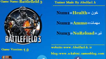 Battlefield 3: Трейнер/Trainer (+3) [1.0] {Abolfazl-k}