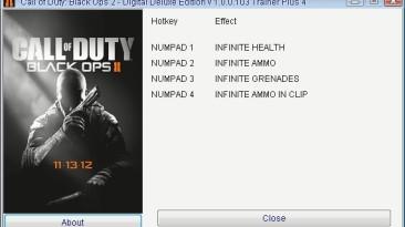 Call of Duty - Black Ops 2: Трейнер/Trainer (+4) [1.0.0.1u3] {Retro/PlayGround.ru}
