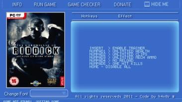 Chronicles of Riddick - Assault on Dark Athena: Трейнер (+5) [1.01] {h4x0r}