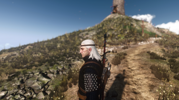 "Witcher 3: Wild Hunt "" Кожаная повязка на голову Геральта / Geralt Leather Headband Edited"""