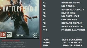 Battlefield 1: Трейнер/Trainer (+11) [UPD: 14.02.2017] {FutureX}