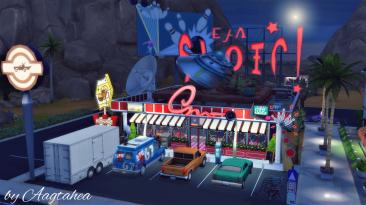 "The Sims 4 ""Ресторан 30x20 - Space Burger"""