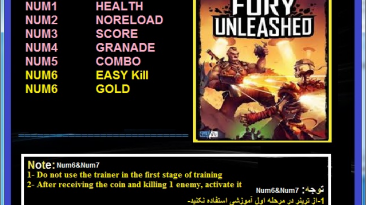 Fury Unleashed: Трейнер/Trainer (+7) [1.0] {Abolfazl.k}