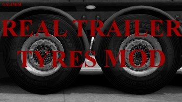 """American Truck Simulator """"Мод Real Trailer Tyres Mod v1.0 by Galimim"""""""