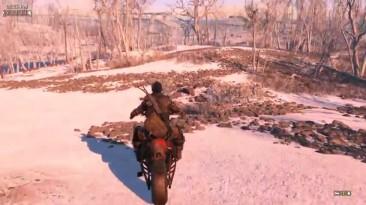 Fallout 4 - Мотоцикл для вас и вашего спутника / Driveable Motorcycle Mod