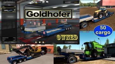 """Euro Truck Simulator 2 """"Низкорамный прицеп Goldhofer (в собственность) v1.4.6"""""""
