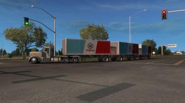 """American Truck Simulator """"Двойные, Тройные и Тяжёлые трейлеры. DLC Heavy Cargo, Forest Machinery и Другие в Трафик v7.1 ATS 1.37.x"""""""