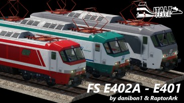 "Transport Fever 2 ""Итальянские локомотивы FS E402A - E401"""