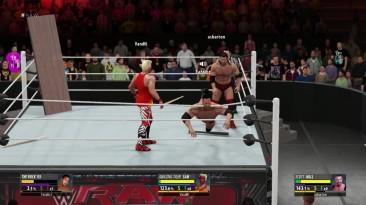 2K16 Online Triple Threat Extreme Match - Rock VS Scott Hall VS Tiger Sam