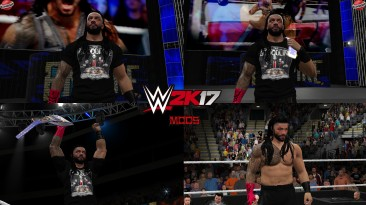 "WWE 2K17 ""Roman Reigns Red Glove Наряд (Лицевая анимация) WWE 2K19 Порт Мод"""