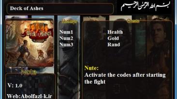 Deck of Ashes: Трейнер/Trainer (+3) [1.0] {Abolfazl.k}